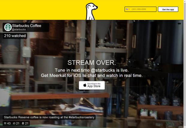 Starbucks_Meerkat_App