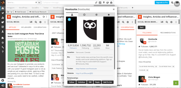 Right Relevance Hootsuite app